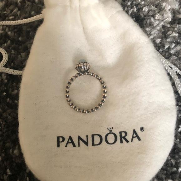 a41bec0b4 Pandora Birthday Blooms Aquamarine Size 6 Ring. M_5b5be4958158b567a45d8c09